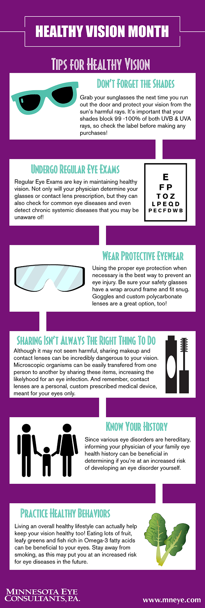 Healthy Vision Month Infographic