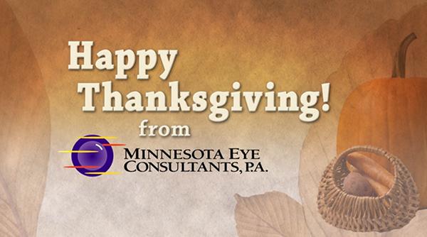 Happy Thanksgiving from Minnesota Eye Consultants