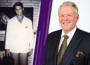 Dr. Richard Lindstrom - photos at both the beginning of his career and present day