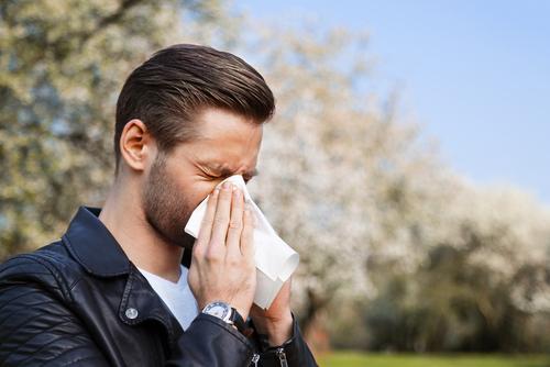Man Sneezing