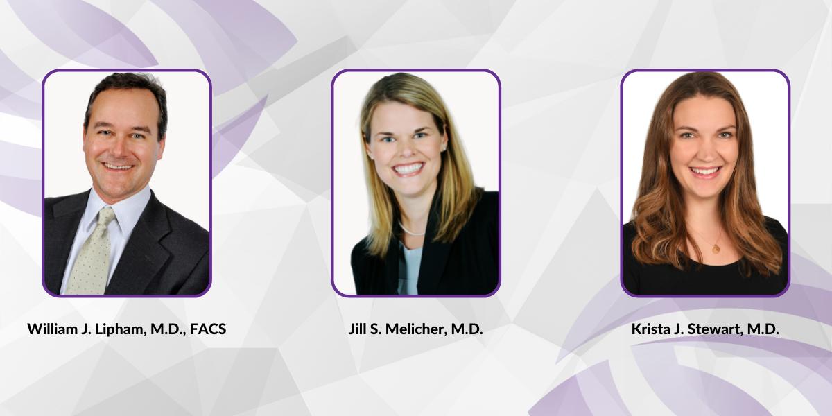 Drs. Lipham, Melicher and Stewart headshots